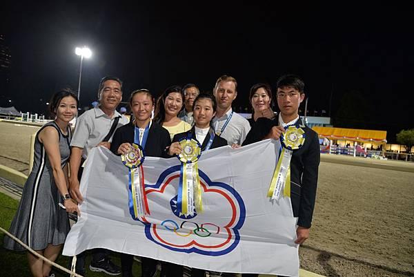 中華台北獲得團體賽銅牌