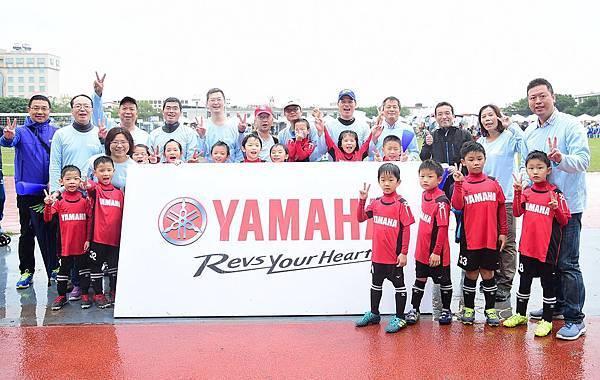 台灣山葉機車今年成軍小足球隊號召社內員工子女參加獲得響應。
