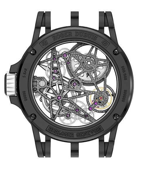 Excalibur Spider Pirelli鈦合金鏤空自動上鍊腕錶DBEX0705 NTD2,200,000_Back