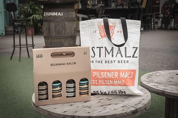 圖2.SUNMAI CUBE自1221起,購買任四瓶瓶裝啤酒即贈SUNMAI限量手工紀念麥袋,絕對要入手收藏