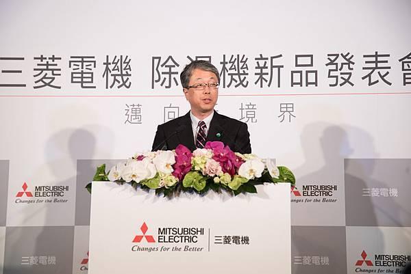 三菱電機株式會社家電映情事業部事業部長 菊池康男
