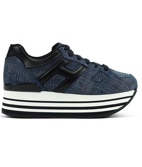 (單品)全球首賣款 - HOGAN MAXI H222 丹寧拼接休閒鞋 NT$20,600