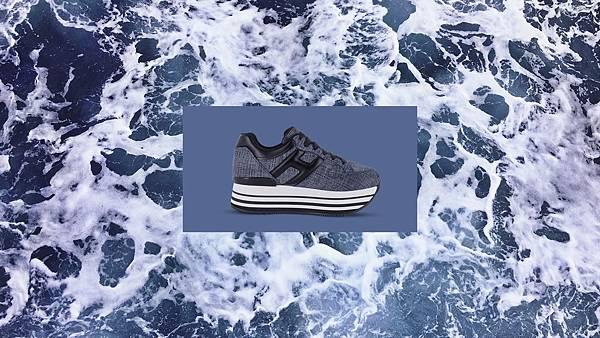 (情境 - 長)全球首賣款 - HOGAN MAXI H222 丹寧拼接休閒鞋 NT$20,600