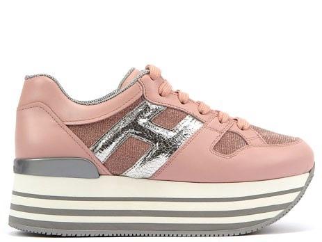 (單品)台灣限定款- HOGAN MAXI H222 粉紅拼接休閒鞋 NT$20,600
