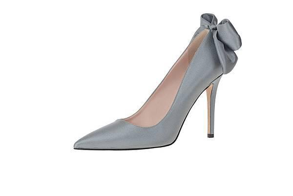 16 SJP_蝴蝶結造型後跟灰色跟鞋_16800