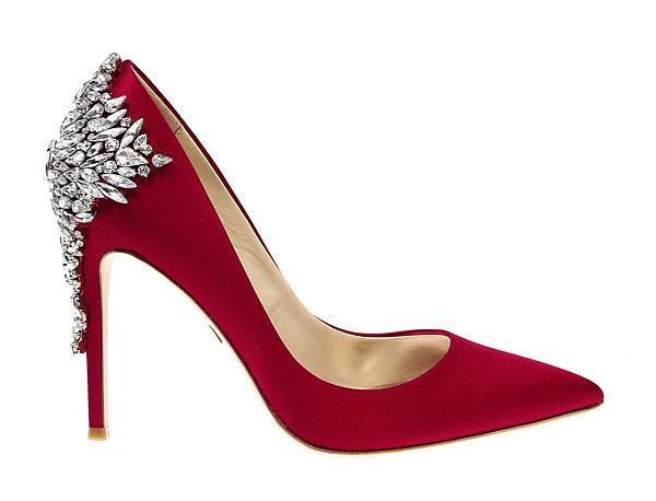 5BADGLEY MISCHIKA經典紅色鑽飾高跟鞋 12800