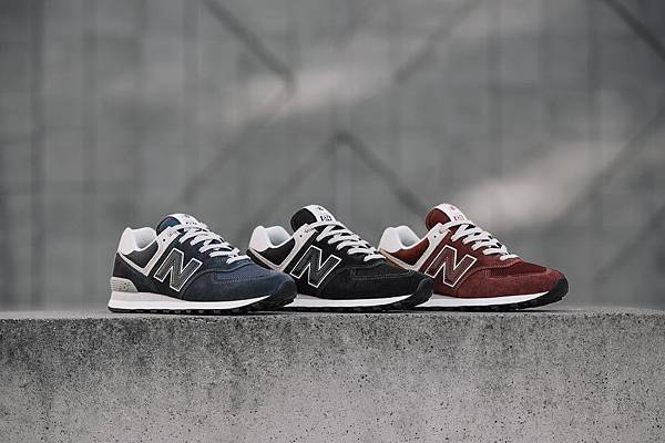 【New Balance】New Balance 574原色系列以湛藍、酒紅、酷黑三款經典原色展現574衷於自我的原創精神