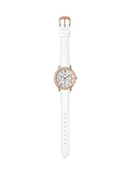 SHE-3058LTD-7A可替換白色真皮錶帶