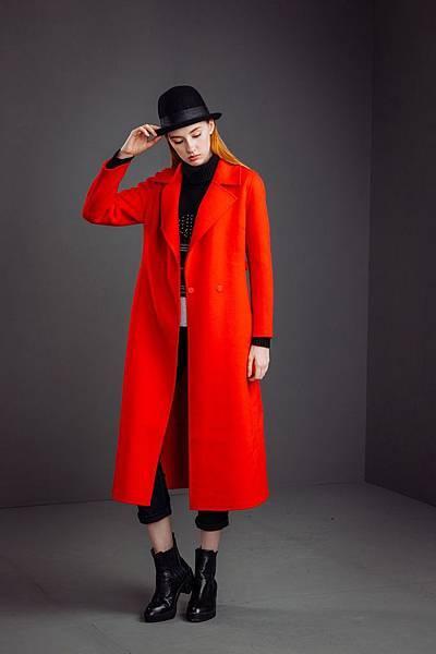 KeyWear開襟純羊毛雙面呢大衣_16800元