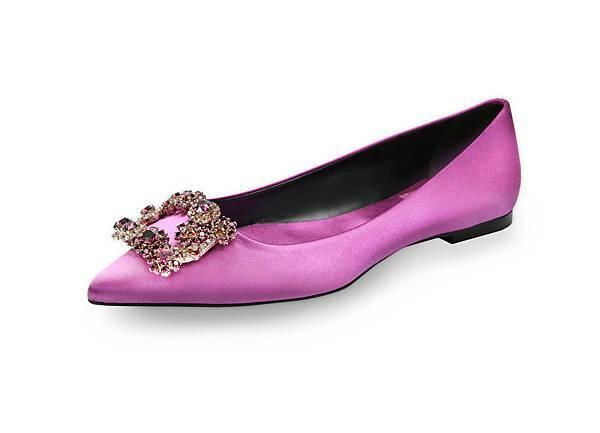 Roger Vivier FLOWER STRASS 羅蘭紫彩色花鑽平底鞋 NT$65,600