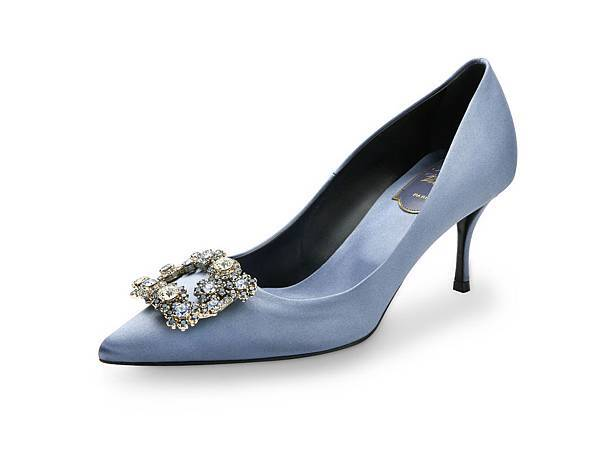 Roger Vivier FLOWER STRASS 雲彩藍彩色花鑽細高跟鞋 NT$68,900