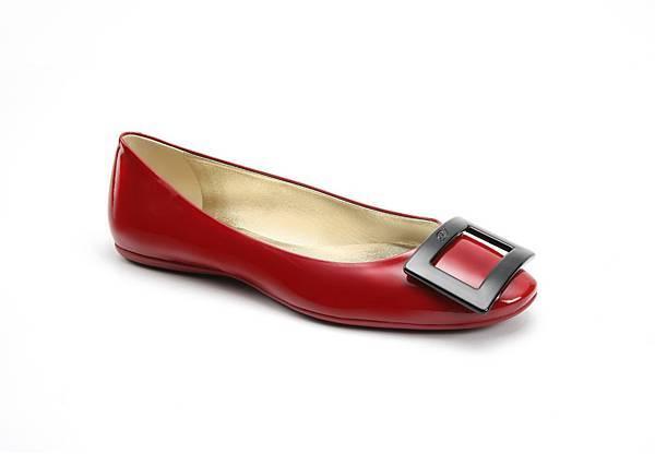 Roger Vivier GOMMETTE 紅黑撞色經典方釦芭蕾舞鞋 NT$21,900