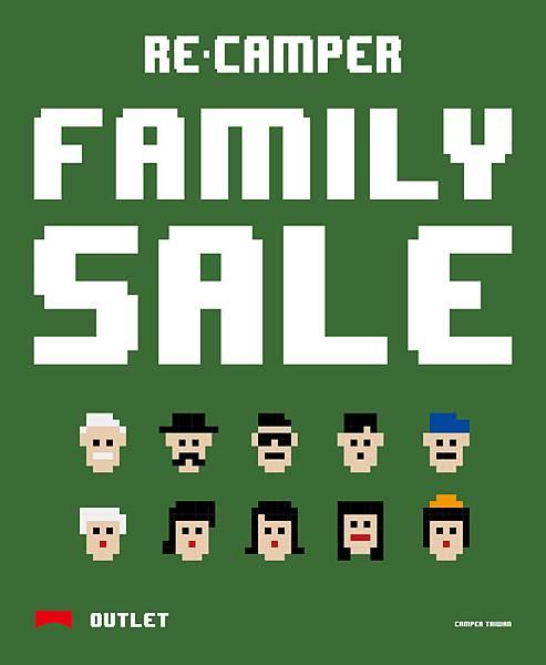 CAMPER FAMILY SALE歲末感恩回饋折扣季,即將於0104~0110於忠孝RECAMPER OUTLET限定開跑囉!