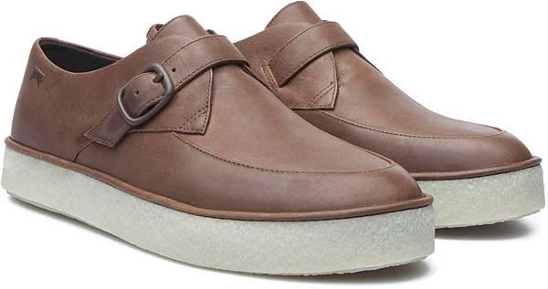 Camper Ambar系列咖啡色皮革休閒鞋,NT$3,000。(女款)_鞋側面