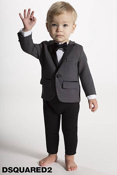 Dsquared2_baby晚宴服連身衣LOGO