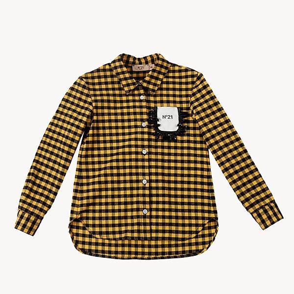 N° 21 Kids_黃色格紋襯衫$9280