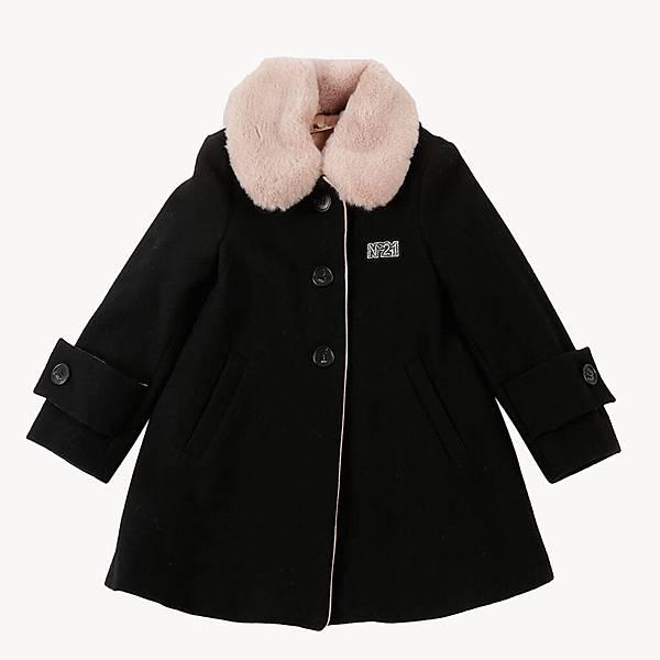 N° 21 Kids_黑色鋪棉大衣外套$26480