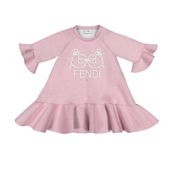 FENDI_小怪獸荷葉邊連身裙$12780