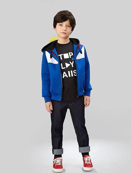 FENDI_小怪獸連帽外套+上衣