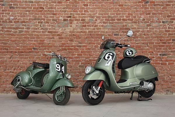 BhIDIwMTitq71Tt3O02lZlc3BhIFM=_= ei Giorni(右)與1951年參賽的傳奇Vespa Sei Giorni