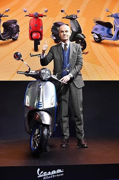 Piaggio亞太區執行副總裁Gianluca Fiume特地來台重磅揭幕電動概念車 Vespa Elettrica