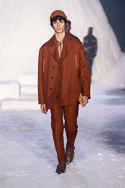 12. Ermenegildo Zegna Couture 2018冬季系列時裝秀 Look 26