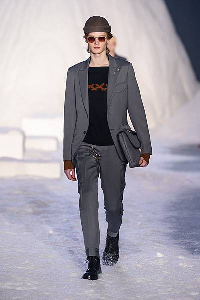09. Ermenegildo Zegna Couture 2018冬季系列時裝秀 Look 21