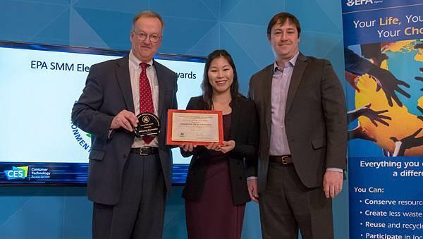 三星榮獲美國環保署頒發2017 Cutting Edge冠軍獎和金質獎
