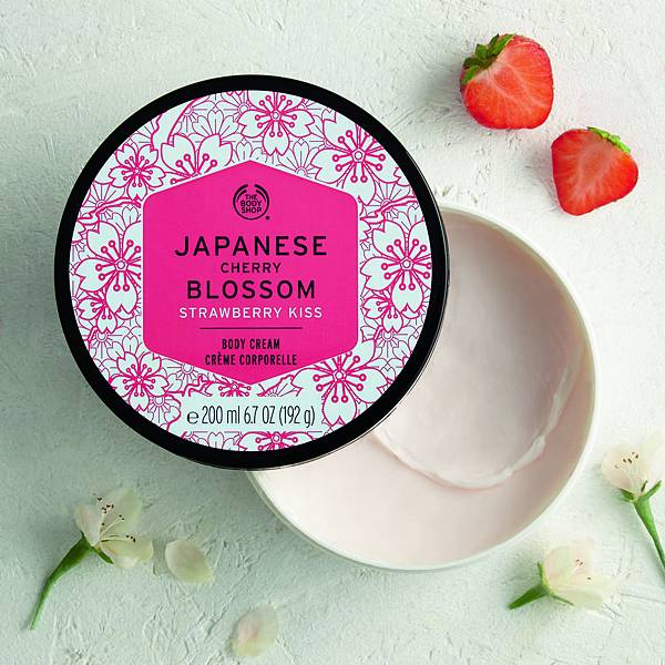 日本櫻花親親草莓身體美膚霜_質地1_$990  200ml