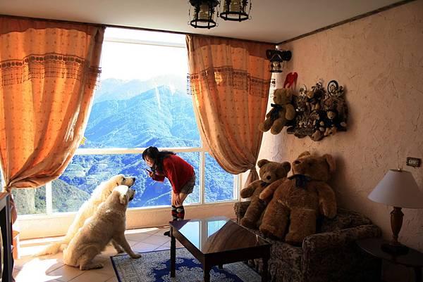 圖四:「清境白熊屋民宿」主人本身飼養大白熊犬,採歐洲鄉村建築風格