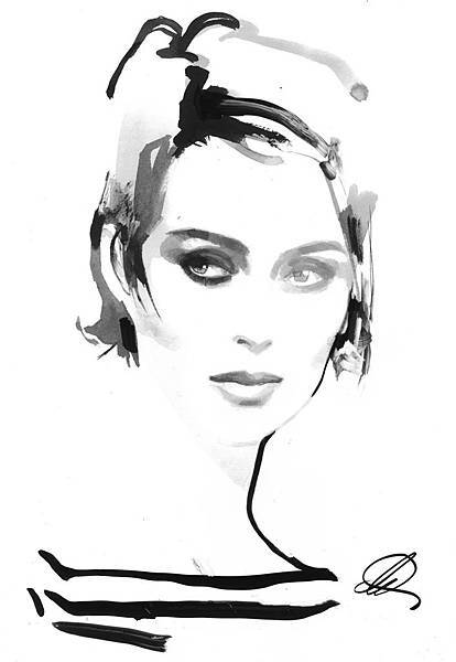 "FALL 2018 MICHAEL KORS COLLECTION_""SABINE"" ILLUSTRATION BY DAVID DOWNTON..."