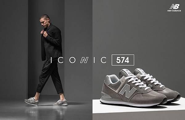 【New Balance】Classic of Grey經典灰系列」,展現灰色的簡單大方不做作的百搭街頭風範_2 ML574EGG