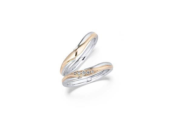 Aigle結婚對戒 定價約:男戒 NT$ 32,000 女戒 NT$ 33,000
