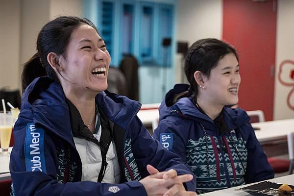_09-培訓選手姊妹檔方珮瑄(左),曾參加過哈薩克青少年滑雪比賽。圖右為方楀媃,雪齡4年。