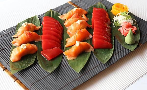西瓜生魚片示意圖