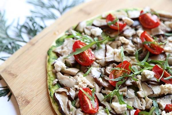 雲品溫泉酒店推出當日限定創意素食餐點-「鄉村野菌菇比薩」
