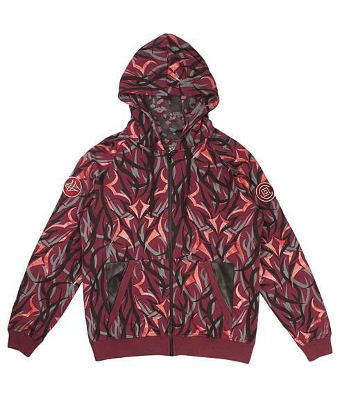 【新聞照片1】CLOT Red Alienegra Camo Parka