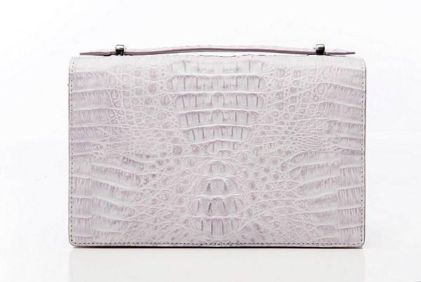 圖6_復古典雅肩背手拿鱷魚方包 象牙白,建議售價NT28,800(已上市)