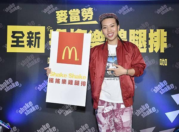 6.台灣麥當勞全新「搖搖樂系列」登場!明(28)日起首波推出「搖搖樂雞腿排」,邀請嘻哈皇后葛仲珊擔任系列代言人,量身打造嘻哈主題曲。