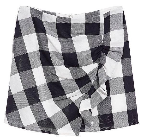 黑白格紋短裙 NT$1880