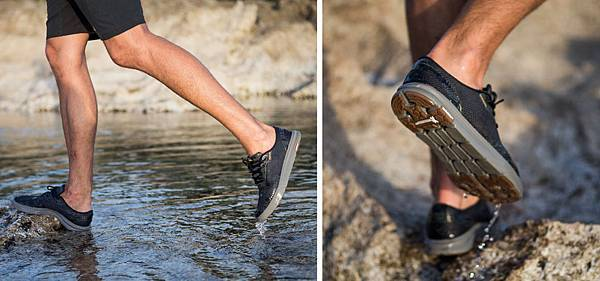AMPHIBIAN PLUS水陸浪遊便鞋,獨家與MICHELIN米其林輪胎研發六角型多向溝紋鞋底 大幅提升抓地力與腳感操控性