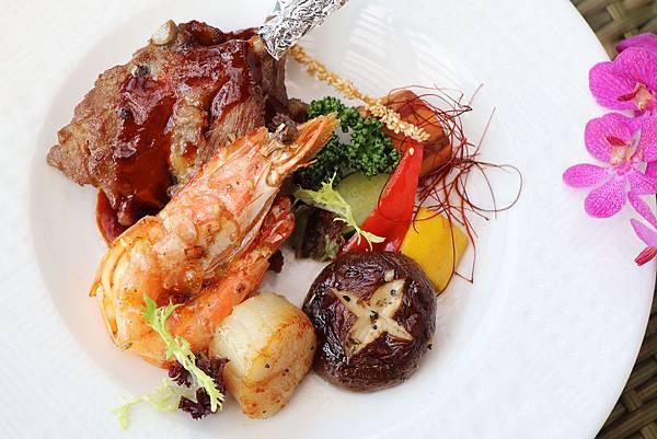 豪華海陸主餐-紅酒羊小排