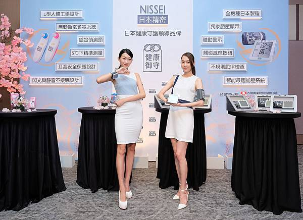 NISSEI日本精密手臂式血壓計和手腕式血壓計,以舒緩模式展現不緊繃的「智能最適加壓系統」獨家技術。