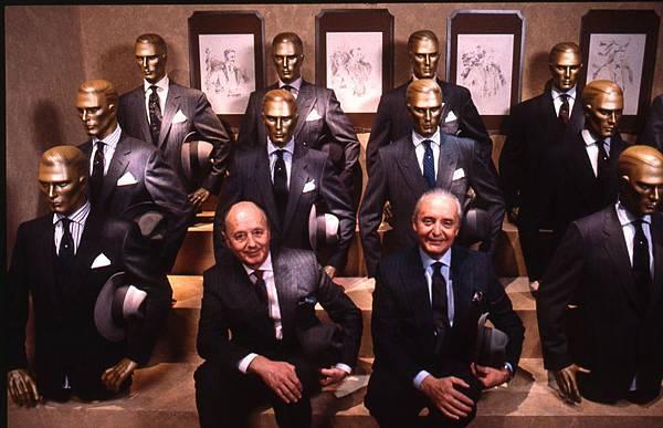 6. 1986年Pitti Uomo會場_Aldo與Angelo Zegna(右)合影