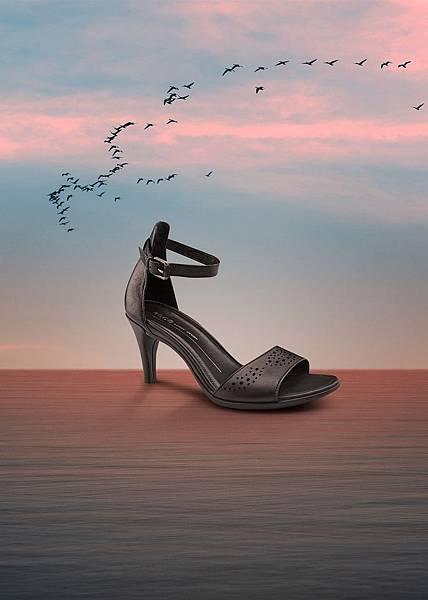 【新聞稿圖片5】ECCO SHAPE 65 SLEEK SANDAL女鞋_TONDER LACE系列_黑_售價$6,980