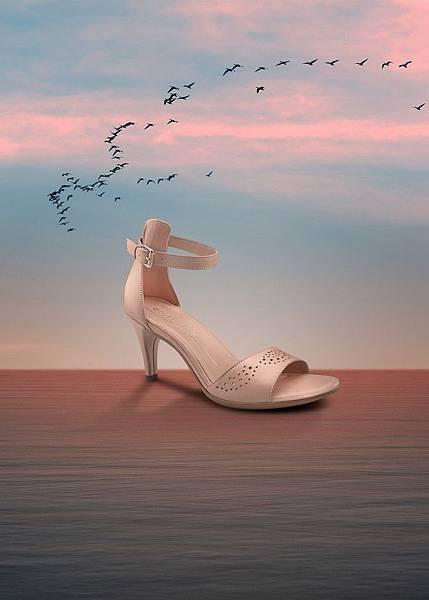 【新聞稿圖片4】ECCO SHAPE 65 SLEEK SANDAL女鞋_TONDER LACE系列_粉_售價$6,980