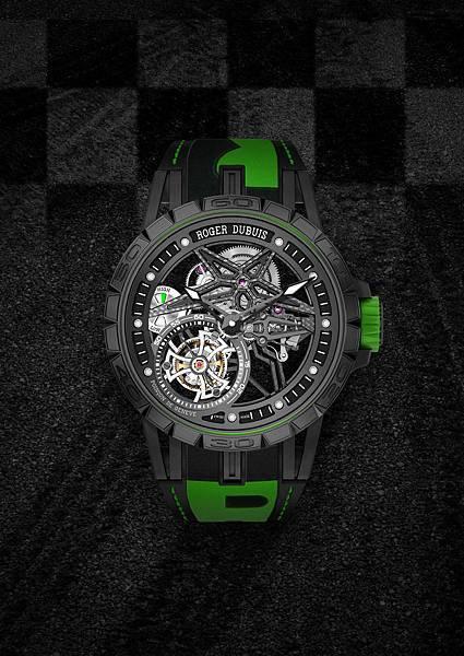 DBEX0669-Excalibur Spider Pirelli鏤空飛行陀飛輪,價值新台幣5,150,000元-綠