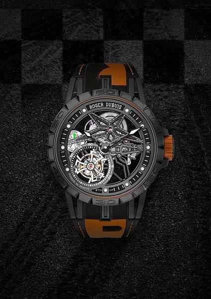 DBEX0669-Excalibur Spider Pirelli鏤空飛行陀飛輪,價值新台幣5,150,000元-橘