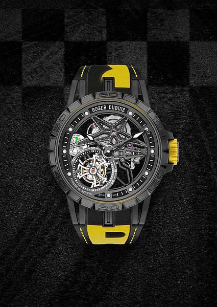 DBEX0669-Excalibur Spider Pirelli鏤空飛行陀飛輪,價值新台幣5,150,000元-黃