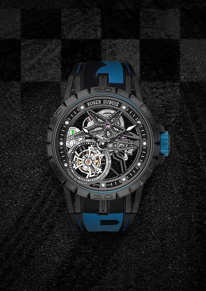 DBEX0669-Excalibur Spider Pirelli鏤空飛行陀飛輪,價值新台幣5,150,000元-藍
